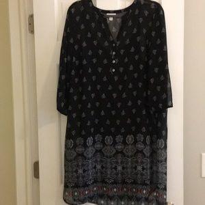 JJill Shear Black Dress